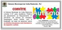 Audiência Pública com a finalidade de tratar de assuntos sobre os diretos da pessoa com transtorno do espectro autista.