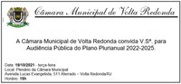 Convite - Audiência Pública - Plano Plurianual 2022-2025