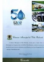 Convite Sessão Solene 50 anos SAAE