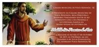 Convite - Sessão Solene - Medalha São Francisco de Assis