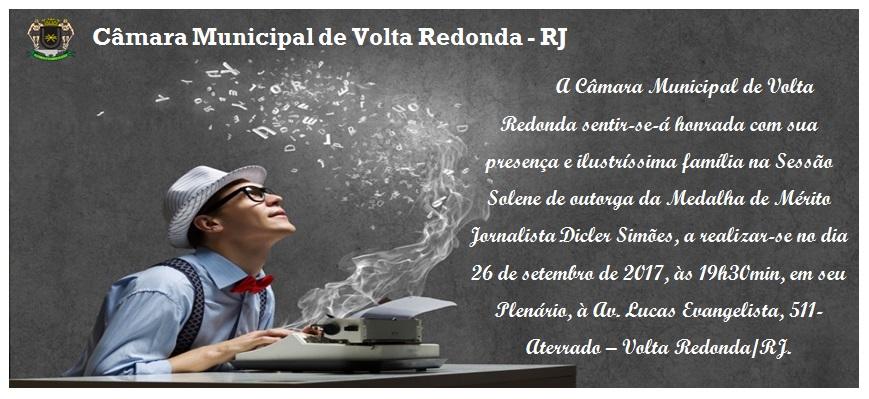 Sessão Solene de outorga da Medalha de Mérito Jornalista Dicler Simões