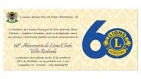Sessão Solene- 60º Aniversário da Lions Clube Volta Redonda.